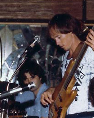 With the Mike Gillis group at Bananas in Coconut Grove, Miami in 1979